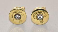 Winchester AA 12 Gauge Shotgun Shell Cufflinks Swarovski Crystal Custom Made in the USA