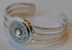 Remington 12 Gauge Shotgun Shell Bullet Bracelet Sterling Silver 925 Custom Made USA