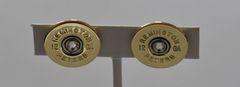 Rare Vintage Remington Peters 12 Gauge Shotgun Shell Bullet Earrings with Swarovski Crystals