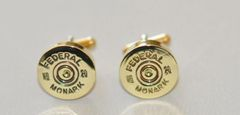 Rare Vintage Federal Monark 20 Gauge Shotgun Shell Bullet Cufflinks Custom Made in the USA