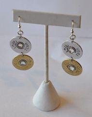 Browning Double 12 Gauge Shotgun Shell Bullet Earrings Sterling Silver 925 Ear Wires
