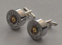 Remington 20 Gauge Shotgun Shell Bullet Cufflinks Silver Color Custom Made in the USA
