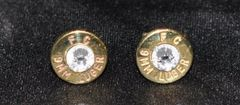 Federal FC 9mm Bullet Shell Earrings Sterling Silver 925 Post & Backs Custom Made in the USA