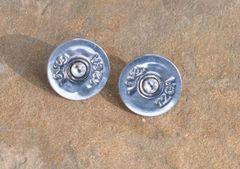 Browning 12 Gauge Shotgun Shell Bullet Earrings Silver Color Sterling Silver Posts & Friction Backs Swarovski Crystal