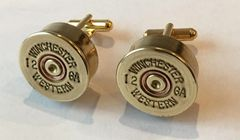 Vintage Winchester Western 12 Gauge Shotgun Shell Bullet Cufflinks Custom Made in the USA