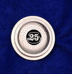 25 Straight Clay Pigeon Shooting Trap Shooting Skeet Shooting Pewter Pin Custom Made in the USA