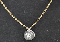 Winchester 12 Gauge Shotgun Shell Pendant Charm Nickel Finish Bronze Brass Finish Necklace Swarovski Crystal