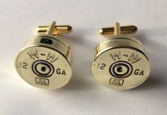Vintage Winchester Western AA 12 Gauge Shotgun Shell Bullet Cufflinks Custom Made in the USA Circa 1970's