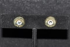 Winchester 38 Special Bullet Shell Casing Earrings Sterling Silver 925 Post & Backs Custom Made Swarovski Crystals