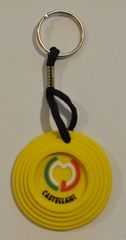 Castellani Sporting Clay Keychain Yellow Clay Pigeon Sporting Clays ,Trap Shooting, Skeet Shooting