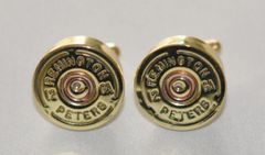 Rare Vintage Remington Peters 12 Gauge Shotgun Shell Bullet Cufflinks Custom Made in the USA