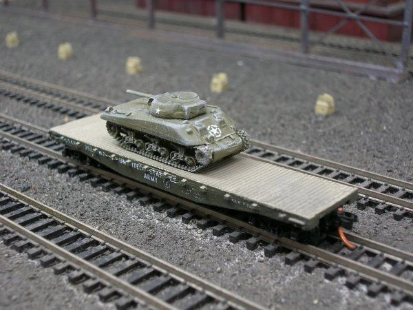 M4 Sherman Medium Tank (Cast Hull) on US Army Transportation Corp Flat Car