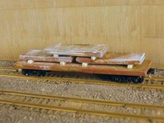 N Scale 40' Mill Car with 3 Large Slabs