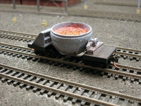 N Scale Single Pot Slag Car