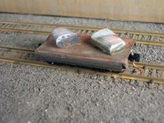 N Scale 20' Mill car with 2 Ingots