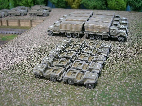 US Army 1/4 Ton Truck (Jeep), package of 2