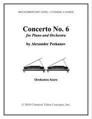 Piano Concerto No. 6 (Orch. Score & Parts)