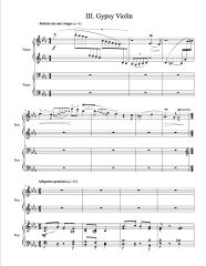 Gypsy Concerto (Arranged for 2 Pianos) e-Print