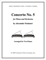 Piano Concerto No. 5 (Arranged for 2 Pianos)