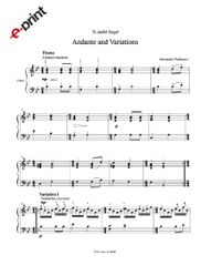 Andante and Variations (e-Print) - Sunshine Suite