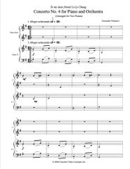 Piano Concerto No. 4 (Arranged for 2 Pianos) e-Print