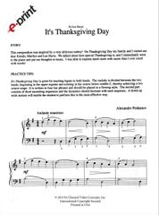 It's Thanksgiving Day (e-Print)