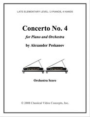 Piano Concerto No. 4 (Orch. Score & Parts)