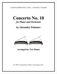Piano Concerto No. 10 (Arranged for 2 Pianos)
