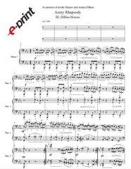 Azery Rhapsody - III. Dilbaz Horses (Arranged for 2 Pianos) e-Print