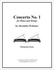 Piano Concerto No. 1 (Orch. Score & Parts)