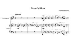 Mama's Blues - Alto Sax & Piano (e-Print)