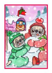 Greeting Card - Pugsicles.