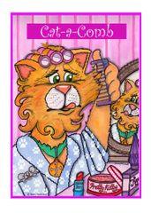 Greeting Card - Tangled Tabby.
