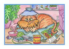 Greeting Card - Not Feline Well?