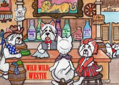 Postcard –Wild Westie.
