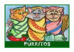 Greeting Card - Tres Spicey Gatos.
