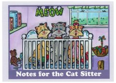 Notes for the Cat Sitter card.