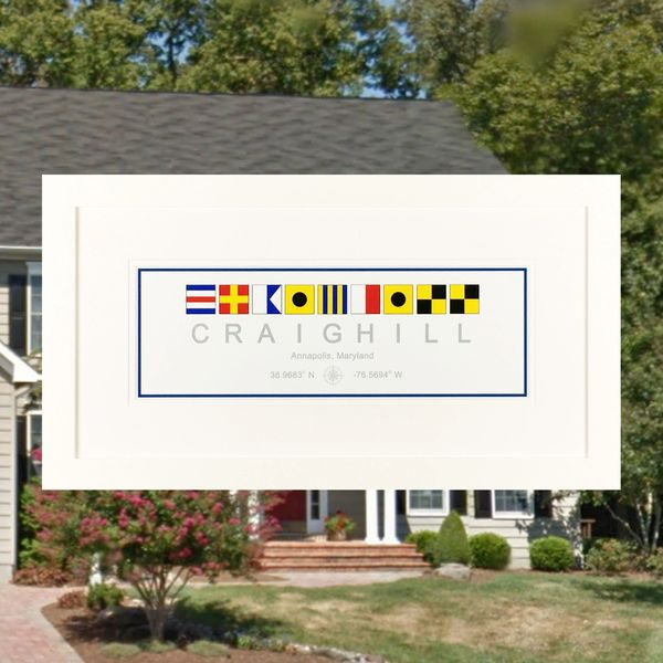 Real Estate - 10 x 20 Custom Nautical Flag Print | Naptown Nautical ...