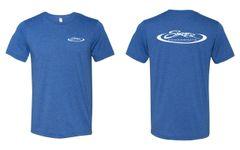 Triblend Heather Royal Blue Skater T-Shirt