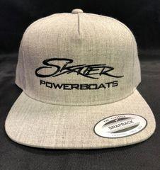 Heather Grey Five-Panel Wool Blend Snapback Cap