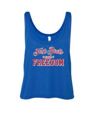 Fast Boats and Freedom Crop Tank
