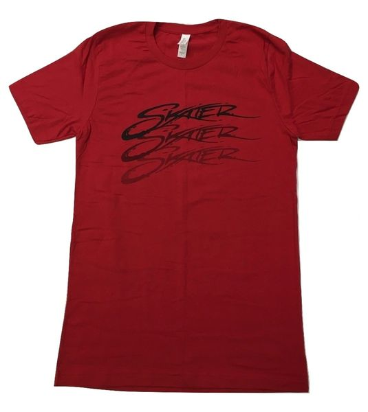 Red Crew Neck Skater Fade T-Shirt