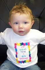"IMPRINTED ""I'M GOING TO BE"" A BIG SISTER/BROTHER IMPRINTED TEE SHIRT"