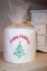 Embroidered Toilet Paper-Christmas