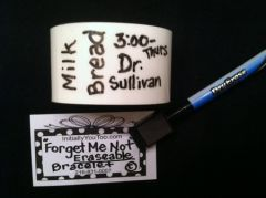 """FORGET ME NOT""(tm)- ERASABLE CUFF BRACELET (with wipe on/off pen)"