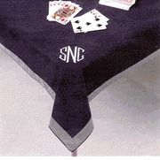 107-Emb. Card Table Cover