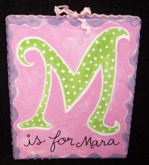 """M is for..."" 8X10 PAINTING-BY TIRK-PERSONALIZED ORIGINAL"