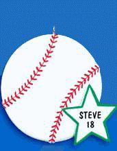 Baseball Personalized Ornament