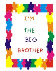 BIG/LIL BROTHER/SISTER IMPRINT SWEATSHIRT-PUZZLE FRAME