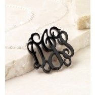 MONOGRAM ACRYLIC INTERLOCKING 3 INITIAL NECKLACE